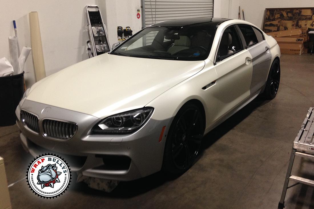 BMW M6 Gran Coupe Car Wrap | Satin Pearl White