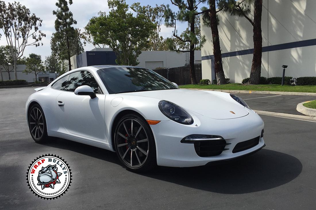 Porsche 911 Wrapped in Satin White Wrap