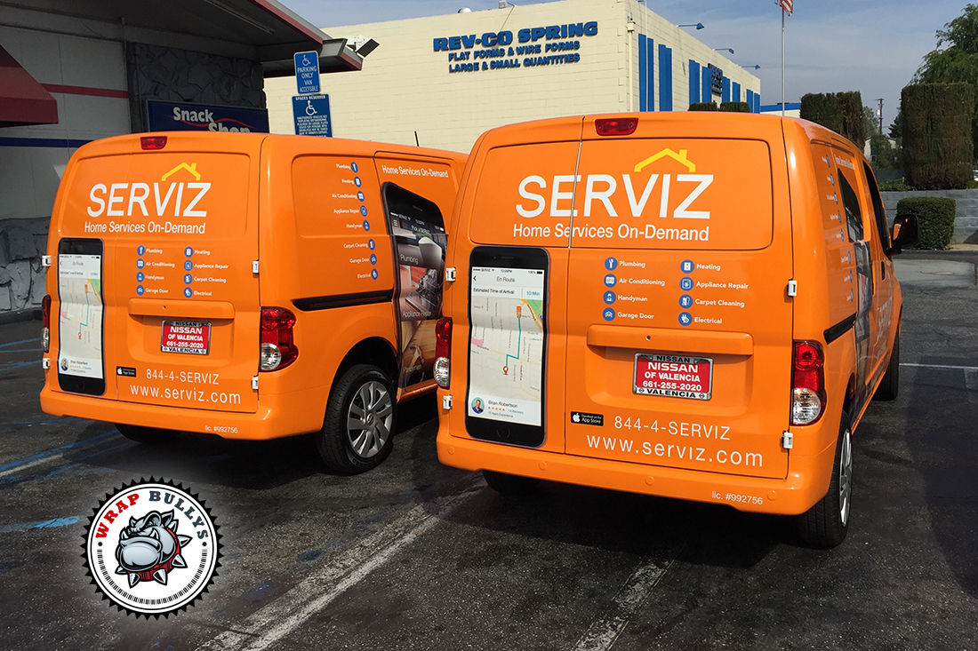 Serviz Fleet Car Wrap
