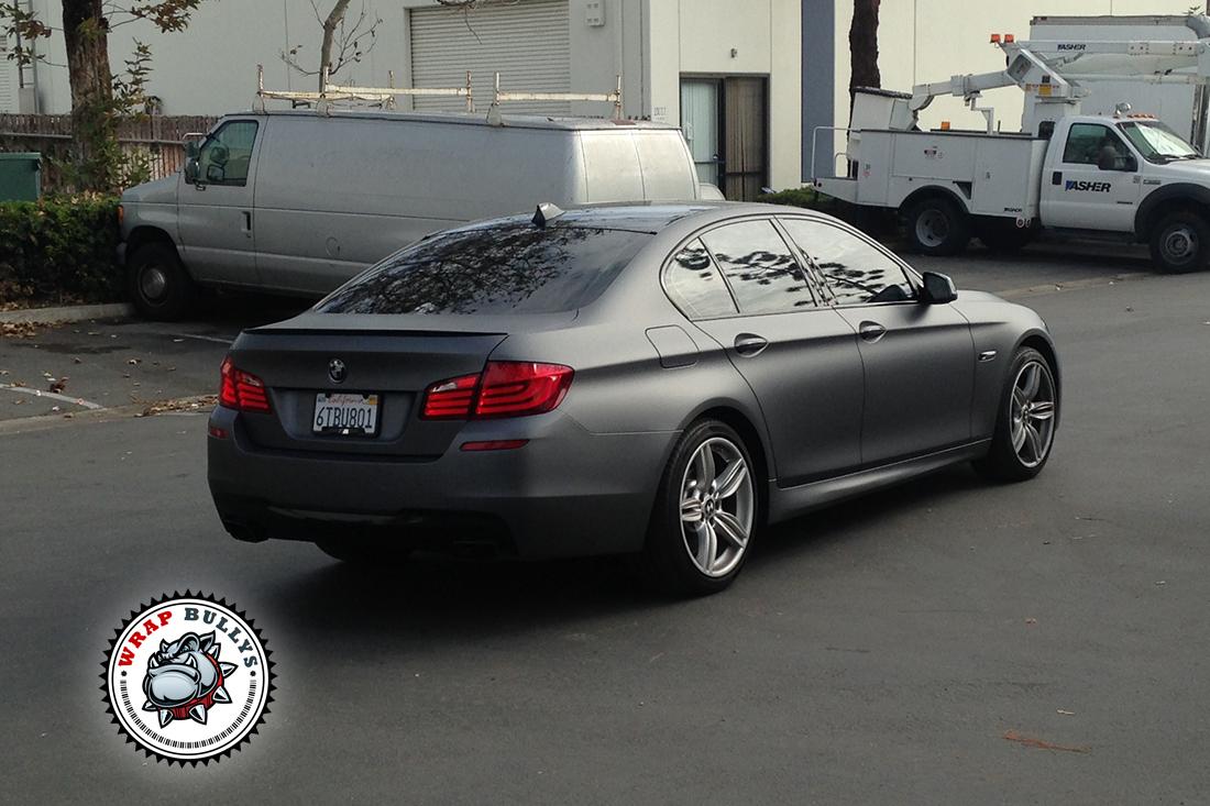 Custom matte dark gray wrap. 3M Dark gray bmw wrap. Call us for pricing